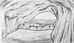 OSAC | Cave to the Falls Pen Sketch by DentistChicken
