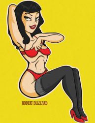 Bettie Page by RobBlizzard
