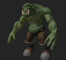 Ork (Zbrush) by KidneyShake