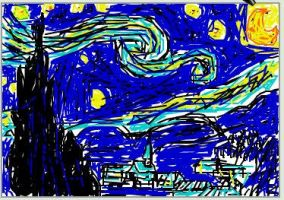 Van Gogh Scribble Rip Off by makai-no-Karasu