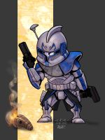Captain Rex colored by MARR-PHEOS