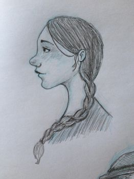 Girl with Braid by Shpout