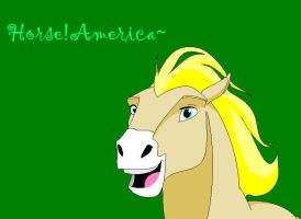 Horse!America by BurntScones