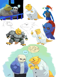 Alphys Sketch Dump 1 by PancrythePancreas5