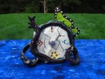 Puella Magi Witch Clock by pinsnneedlesshop