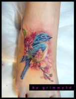 Small Blue Bird by grimmy3d