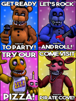 Unwithered Diner Posters! by witheredfnaf