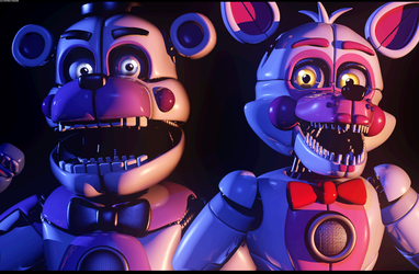 [C4d/FNAF] Come see the Funtime Duo! - Poster by The-Smileyy