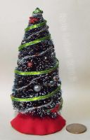 Miniature Decorated Bottle Brush Christmas Tree by Kyle-Lefort