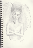 Sketch of an angel by getupp