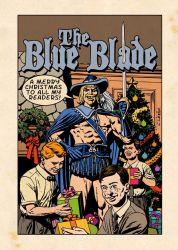 Blue Blade Xmas Card by westonfront