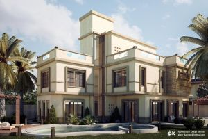 Villa SH- Day exterior by kasrawy