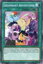 Legendary Adventures (MLP): Yu-Gi-Oh! Card by PopPixieRex