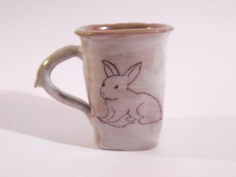 White Rabbit Cup by Lust-and-loss