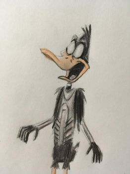 Daffy Duck Zombie by CaptainEdwardTeague