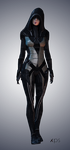 Kasumi - Black outfit high-res by Nightfable