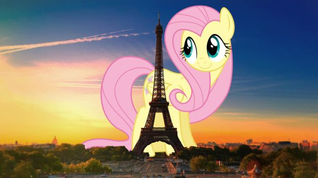 Fluttershy in Paris by TheOtterPony