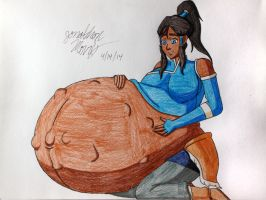 [Request] Very Pregnant Korra by JAM4077