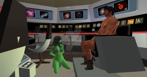 Orion Slave Girl on Enterprise by patpowers