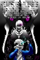 Gaster taking Sans to the Void by risuchan23