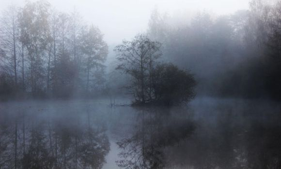 Foggy Waterscape by Caillean-Photography