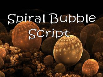 Spiral Bubble Script by Shortgreenpigg