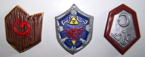 Ocarina of Time Shields Fridge Magnets by ApostacyArt