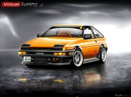 Toyota Corolla AE86 by M4nfr3D