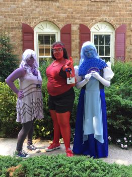 Amethyst and Ruby and Sapphire by Brookemii