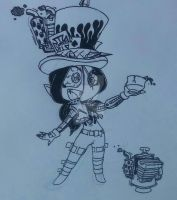 Skeleton - Chibi Motorpunk Malice Alice by PlayboyVampire