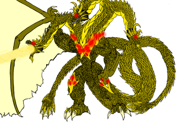 Ghidorah, The King of Terror, and The Planet Eater by kahnac