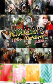 NJXAEM's 100 Watchers Pack by njxaem-yong