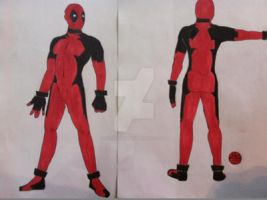 Deadpool layout by MorrigainCrow