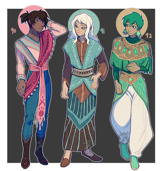 Adopts 90-92 [Auction - Closed] by sandflake-adoptables