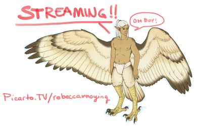 Streaming! Come hang out :3 by Rebeccannoying