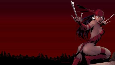 Elektra Wallpaper - Above The City by Curtdawg53
