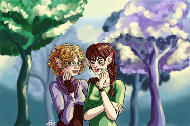 These elves are discussing YOU. by Io-Zoi