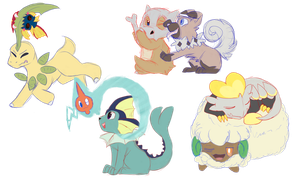 Collab Pokemon bunch