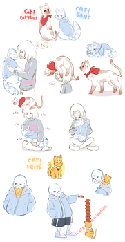 Cats by Rimoussitta