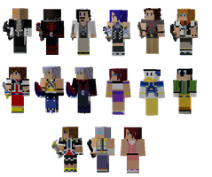 Kingdom Hearts Skins by baronvonmuffin
