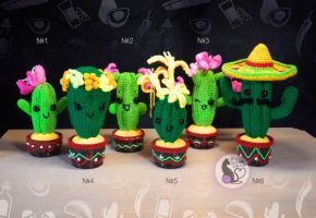 Crochet cute mexican cactus collection by SyCreich-crochet