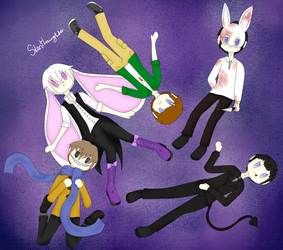 My boys in my doll children style. by Silent--Laughter