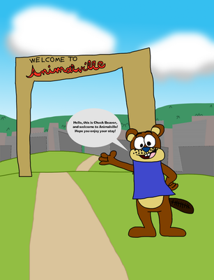 Chuck greets you to Animalville by BrendanDoesArt