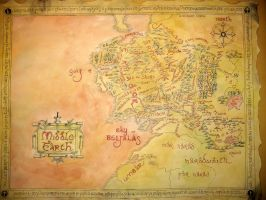 Map of Middle Earth by ThreeRingCinema