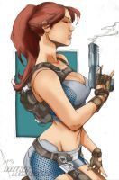 Lara Croft by Mike Debalfo by Blindman-CB