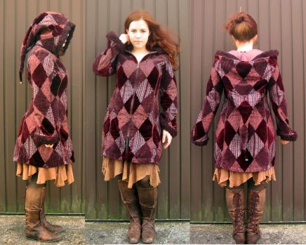 Patchwork Coat by StellarReverie