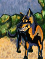 Cezanne's Pup by victoriaD