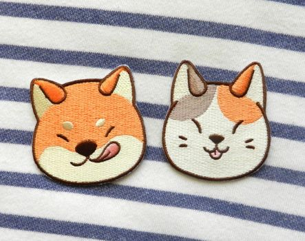 Shiba and Neko Patch by Dunicakes