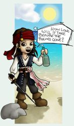 Sketch no2 - Jack Sparrow by ricoche