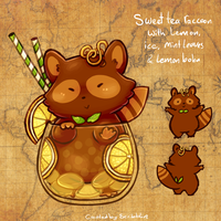 12. March calendar Teacats - Sweet tea by scribblin